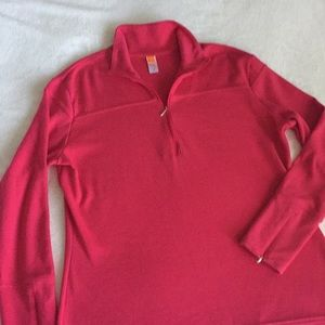 Deep Pink Lucy Workout Pullover. XL